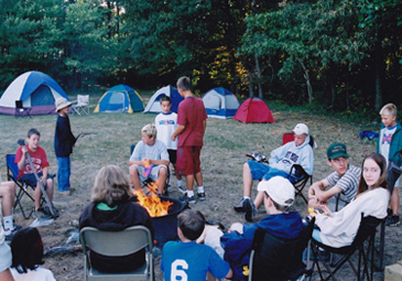 Junior Forest Rangers camping